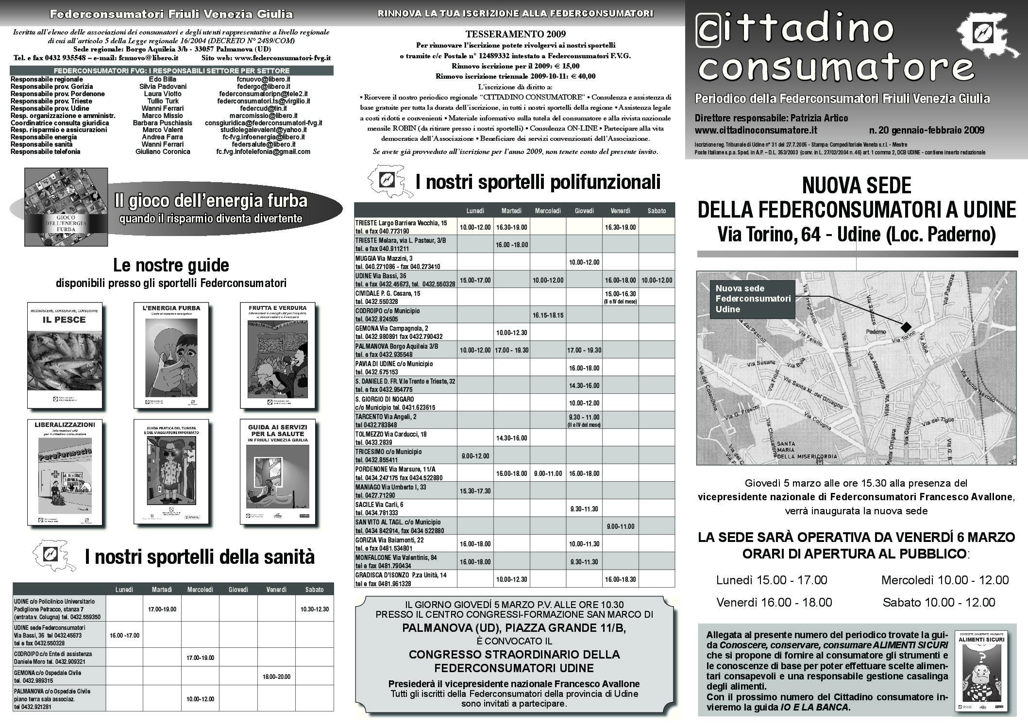 Cittadino Consumatore num. 20 (gen.-feb. 2009)