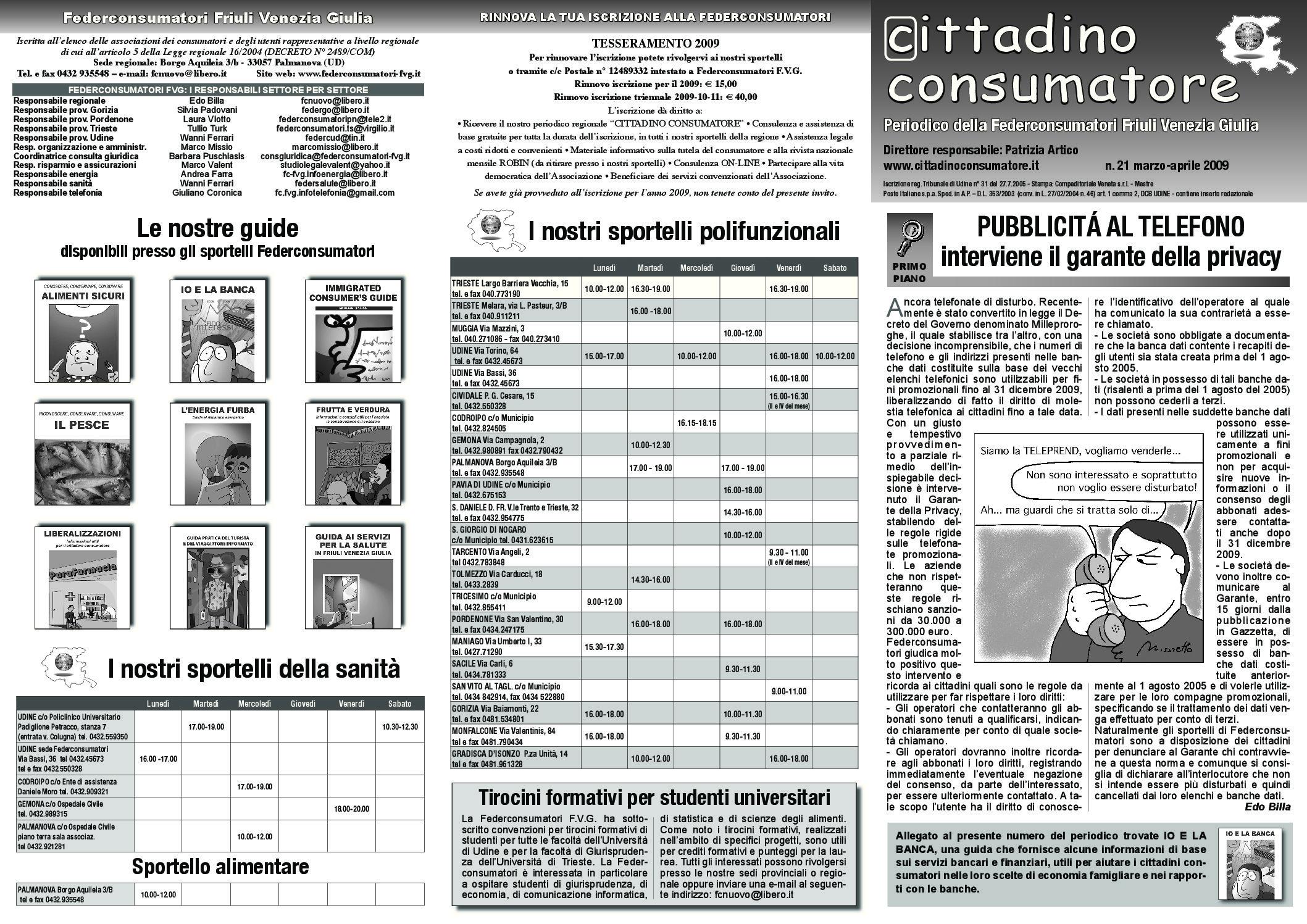 Cittadino Consumatore num. 21 (mar.-apr. 2009)