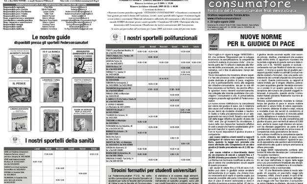 Cittadino Consumatore num. 23 (lug.-ago. 2009)
