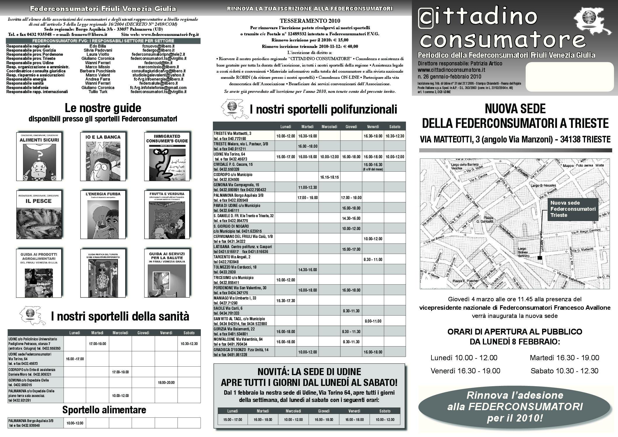 Cittadino Consumatore num. 26 (gen.-feb. 2010)