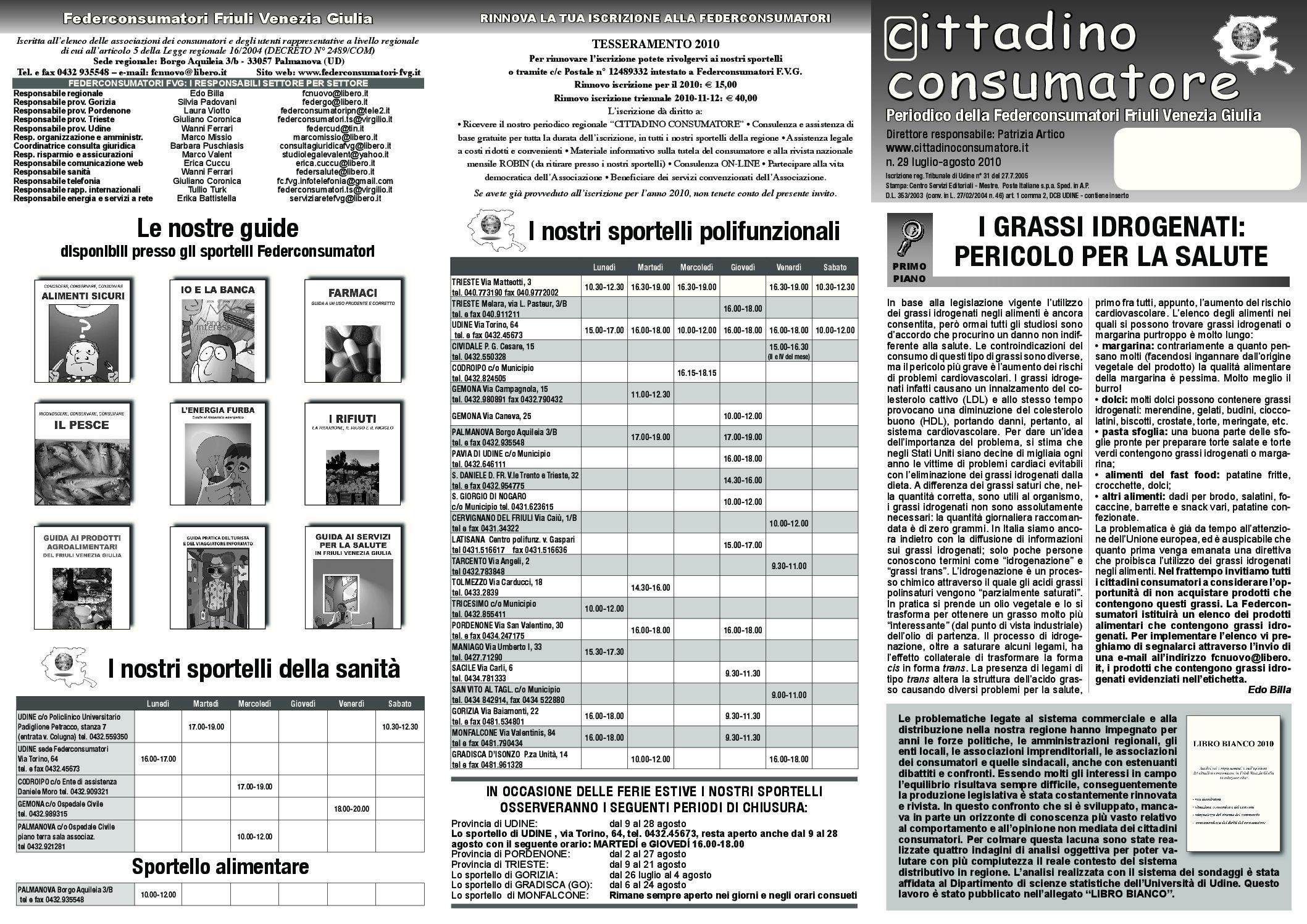 Cittadino Consumatore num. 29 (lug.-ago. 2010)