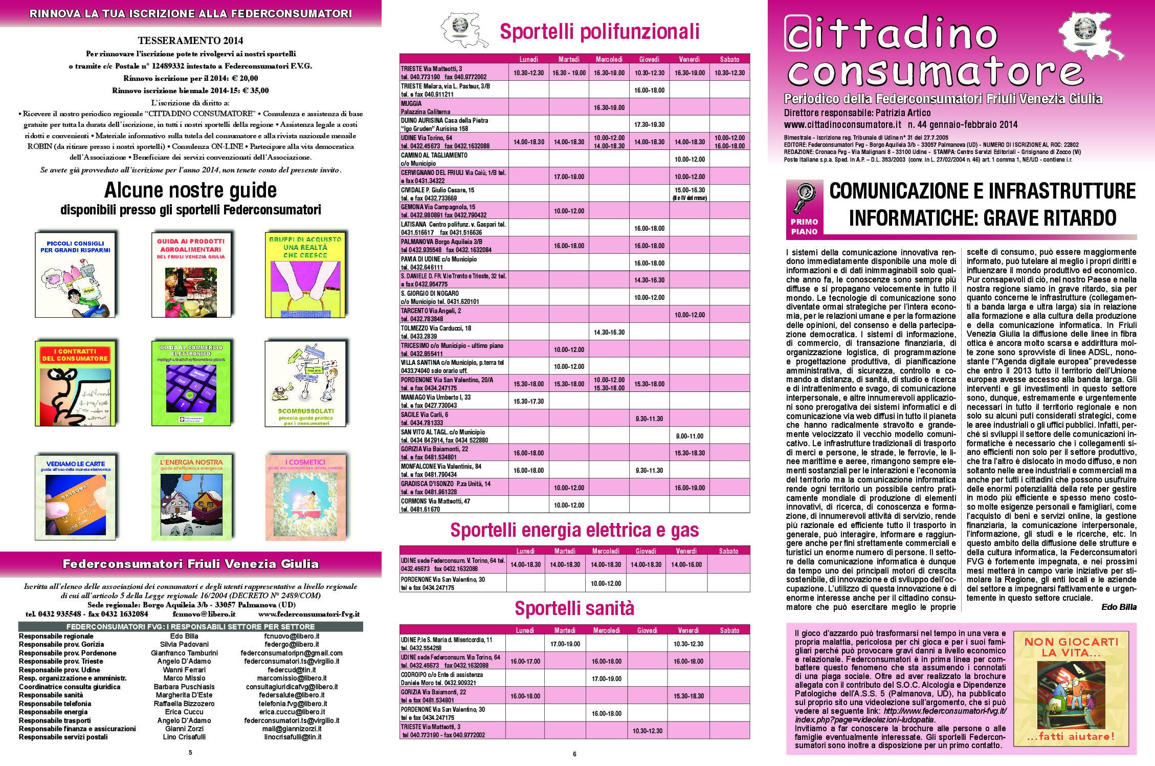 Cittadino Consumatore num. 44 (gen-feb. 2014)