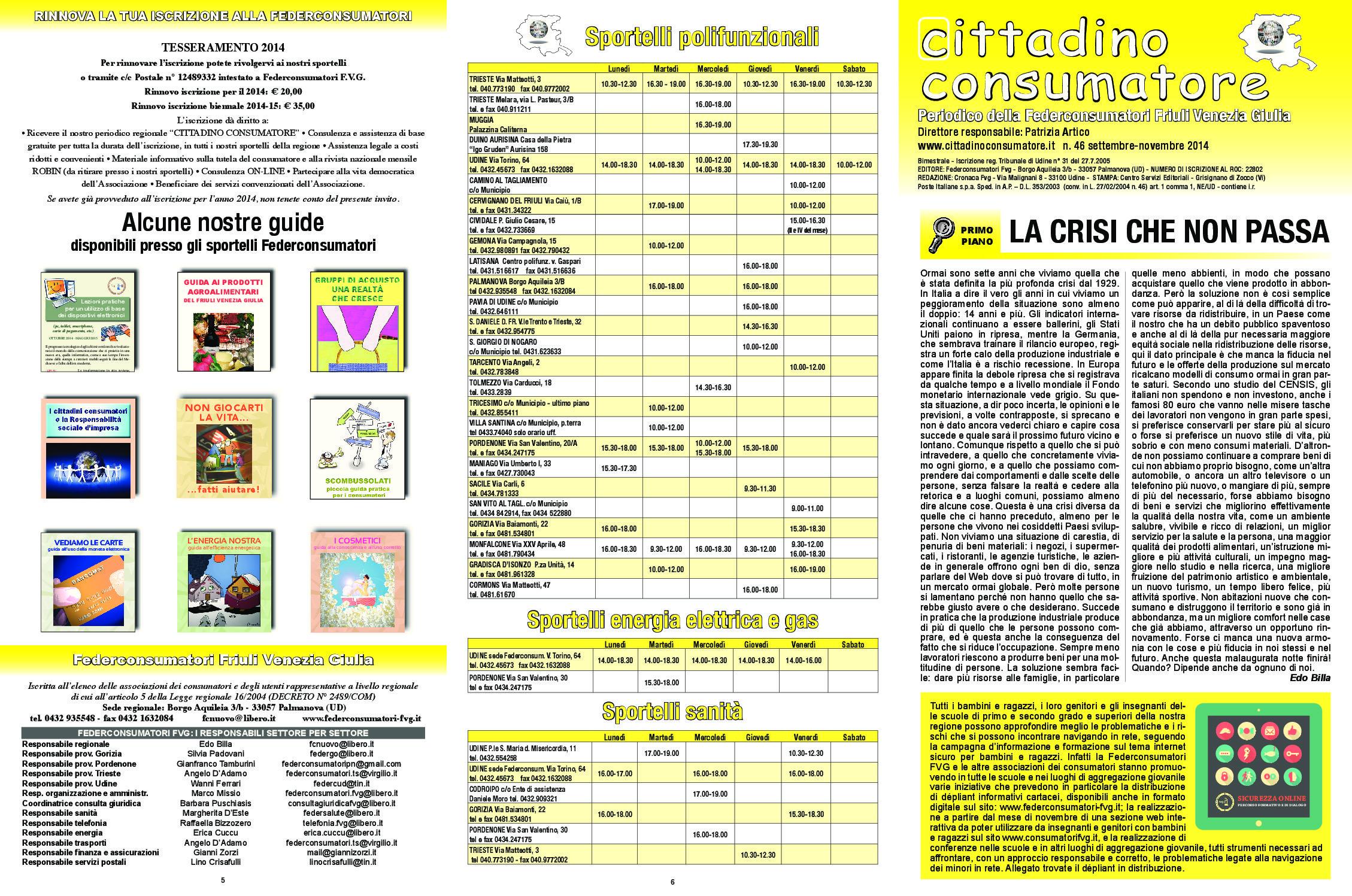 Cittadino Consumatore num. 46 (set-nov. 2014)