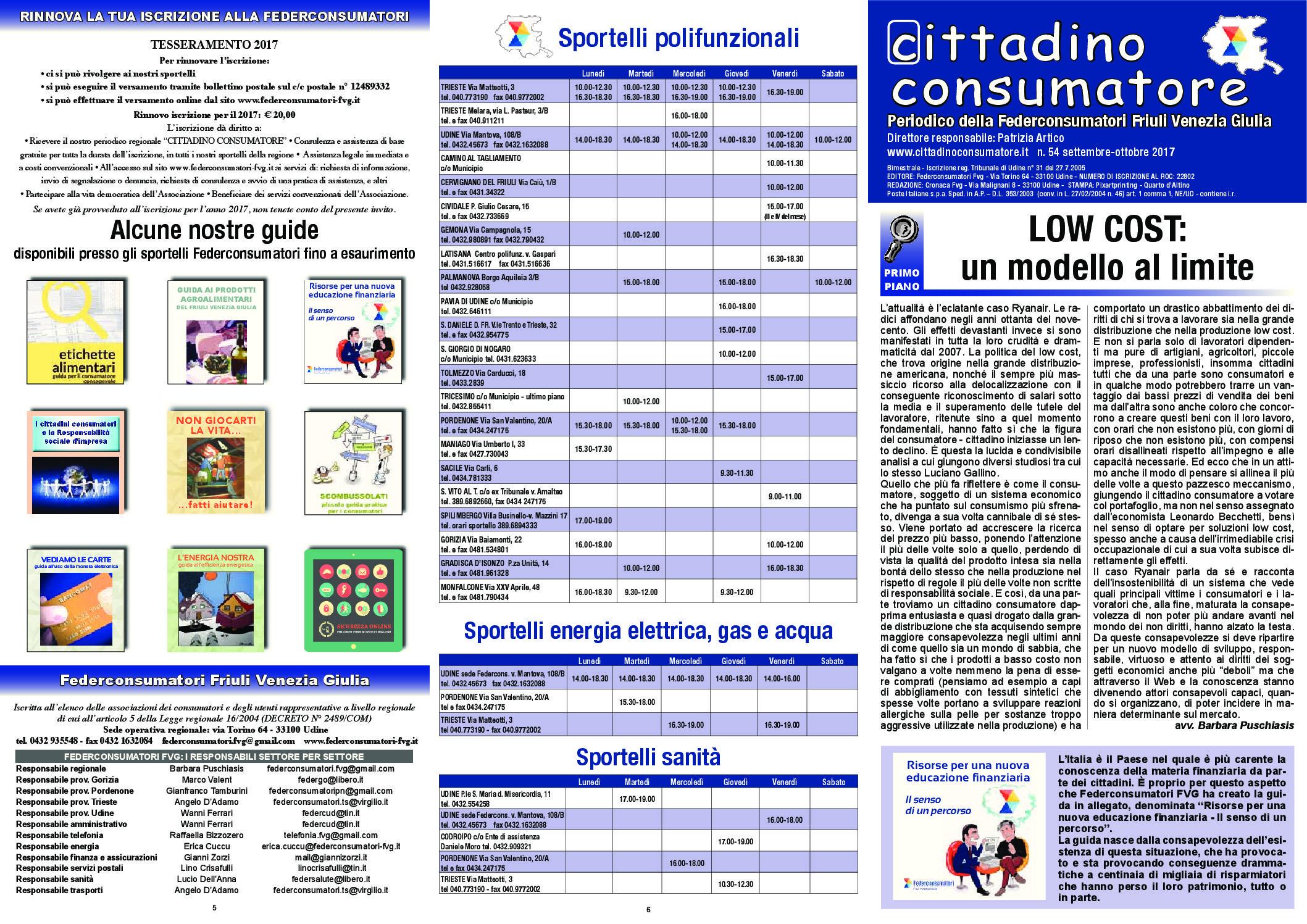 Cittadino Consumatore num. 54 (set.-ott. 2017)
